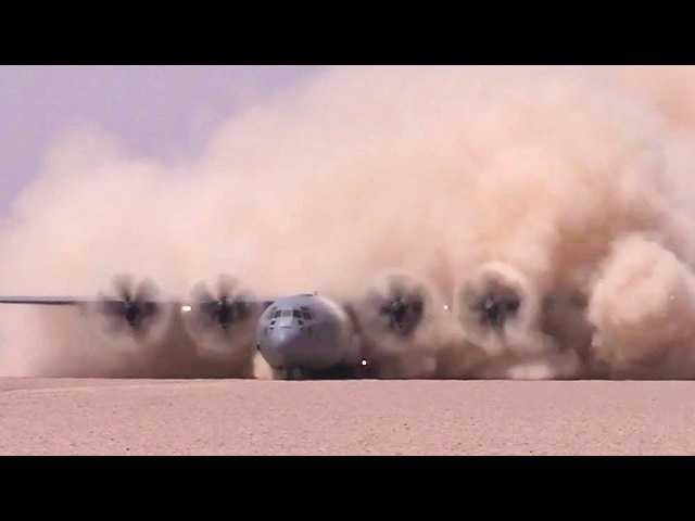 C-130J Making a SPECTACULAR Dust Storm During Landing/Takeoff – USAF Special Ops Prep Dirt Runway
