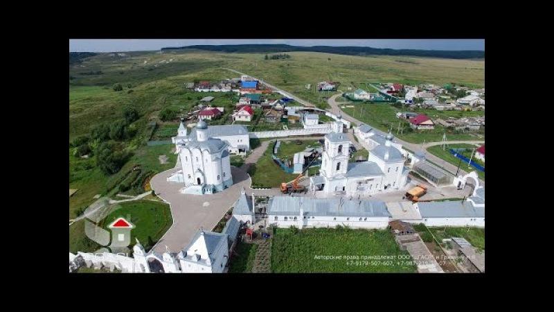 Аэросъемка села Арское (Ульяновская область, храмовый комплекс)