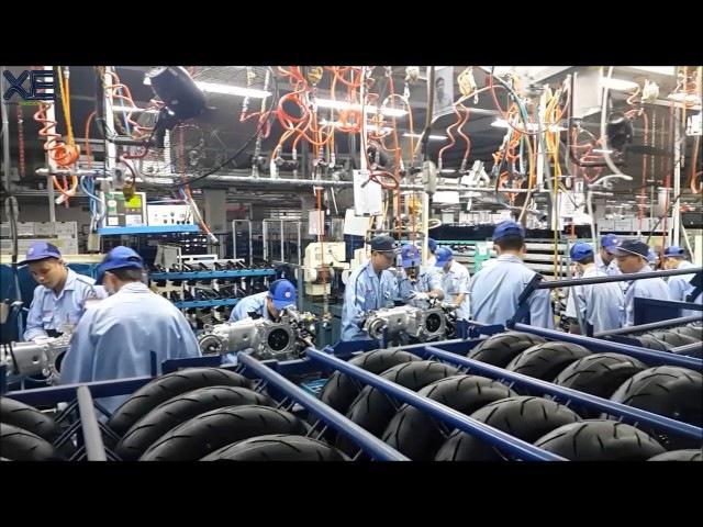 Khám phá quá trình lắp ráp xe ga thể thao Yamaha NVX tại nhà máy của Yamaha ở Nội Bài