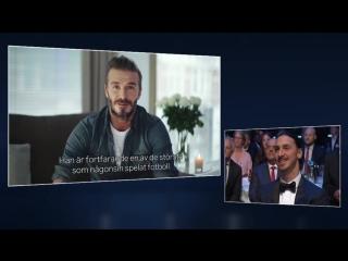 Se när Beckham hyllar Zlatan på Fotbollsgalan - Streama TV4