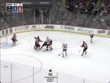 Fast sets up Lindberg by faking a slap shot