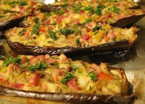 Рецепт лодочек из баклажанов