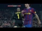 ЧИ 2009-10 | 24 тур | Барселона - Малага 2-1 | 1 тайм