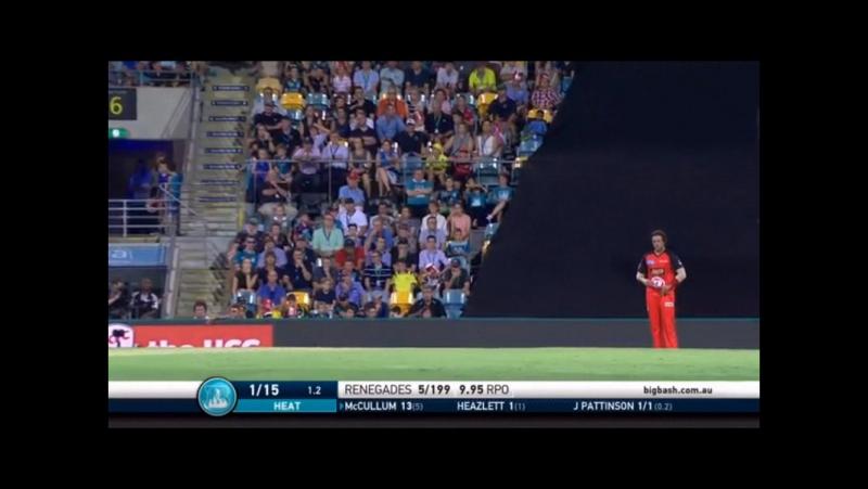 CRICKET Moments of Brisbane Heat v Melbourne Renegades, Jan 20, 2017