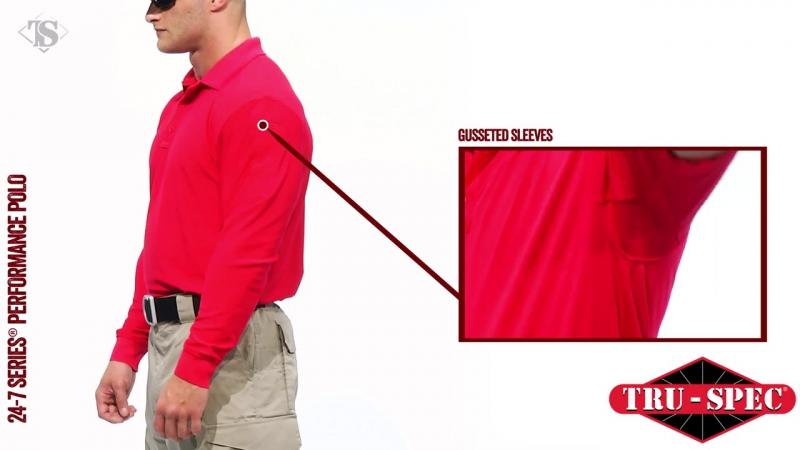 Мужское Поло с коротким рукавом TRU-SPEC Men's 24-7 SERIES® Performance Polo Shirt 100% Jersey Knit Polyester