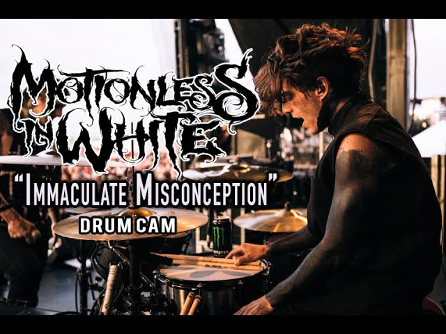 Motionless In White Immaculate Misconception Drum Cam LIVE