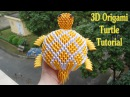 How To Make 3D Origami Turtle Cómo hacer 3d tortuga origami