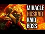 9.6k Miracle- 32 Kills Immortal Huskar Raid Boss ez Birthday Match Dota 2