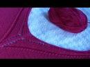 ГОРЛОВИНА спицами V образная ажурная V образный ВЫРЕЗ Детальный МК Вязание спицами горловины