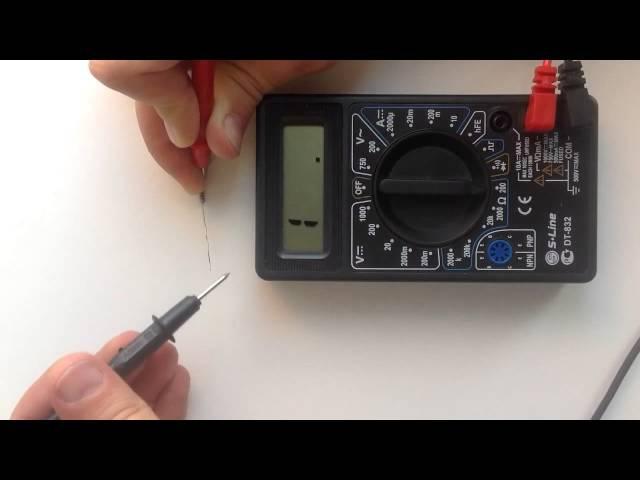 Мультиметр: азы работы с прибором