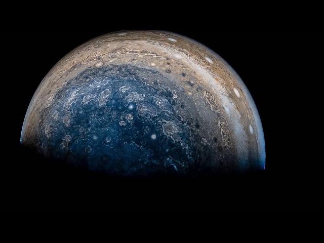 View of Jupiter from NASAs Juno spacecraft