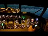 Авиасимулятор Ту-154 б-2, посадка в Сочи