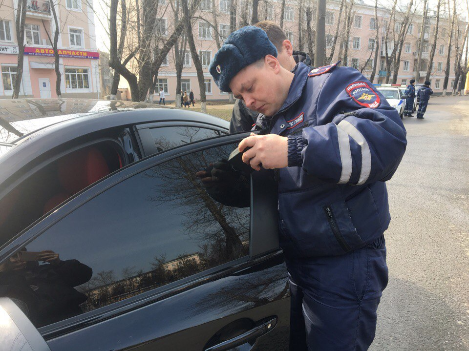 """Состоялась профилактическая операция """"Растонируй авто"""""""