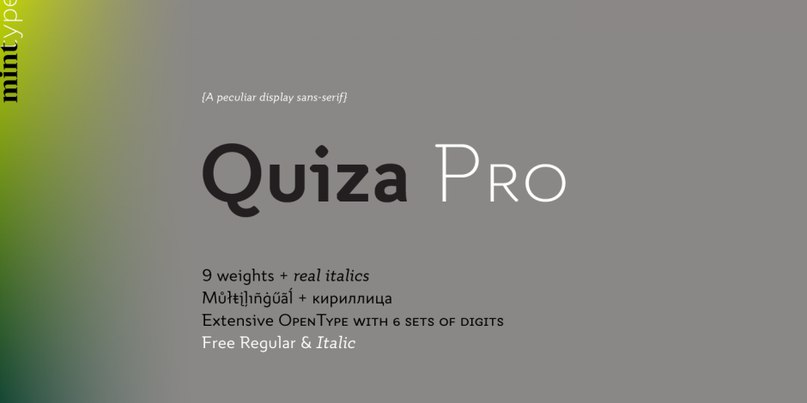 Download Quiza Pro font (typeface)