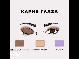 Как правильно подобрать тени под цвет глаз #basicsbeauty