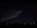 Запуск ракеты с космодрома Байконур во время празднования Дня города (2017)