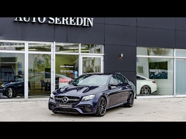 2017 Mercedes-AMG E 63 S 4Matic Cavansitblau Exterior Interior REVIEW by Auto Seredin Germany