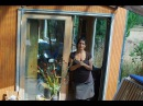 California DIY shipping container tiny home and a cargo trailer bedroom