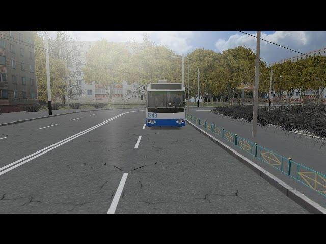 OMSI 2 карта Кострома 2016 маршрут 1 TROLZA 6205 02