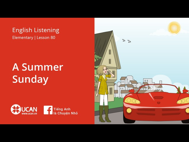 Learn English Listening | Elementary - Lesson 80. A summer Sunday