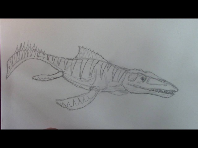How to Draw Mosasaurus Jurassic World the Game Danny the Dinosaur Drawer
