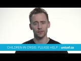 Tom Hiddleston Famine in East Africa please donate to UNICEF