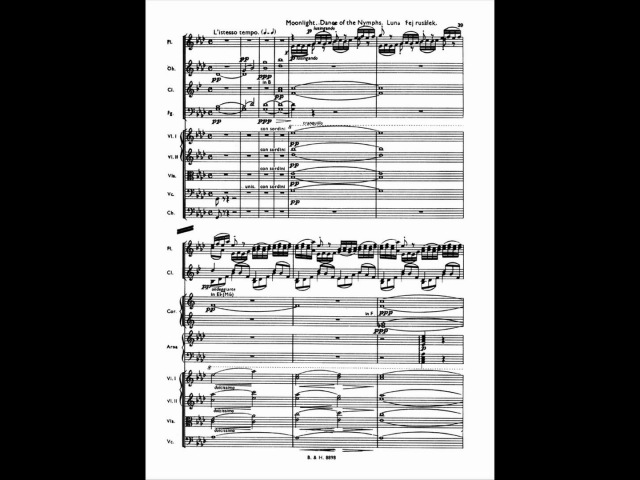 Smetana Má vlast Vltava Die Moldau with score