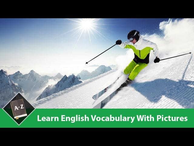 Learn English - English Vocabulary – Recreation/ Winter Water Sports