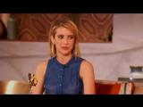 Emma Roberts au Queen Latifah Show  le 21 mai 2014