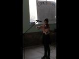 Олька!!!  люблю слушать  её игру на скрипке)))