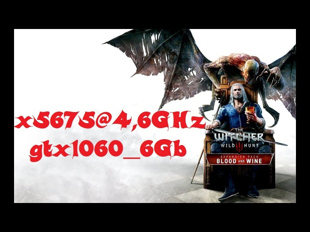 X5675@4,6GHz gtx1060 6Gb in The Witcher 3
