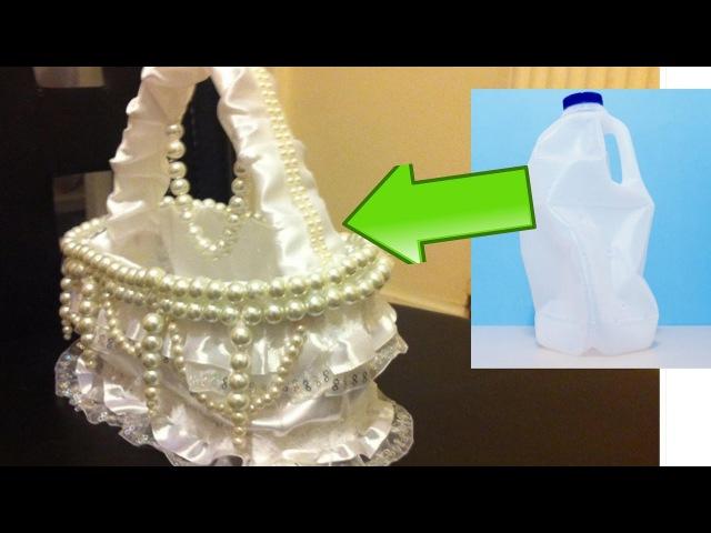 DIY Creative Ways to Reuse / Recycle Plastic Bottles /flower girls basket.