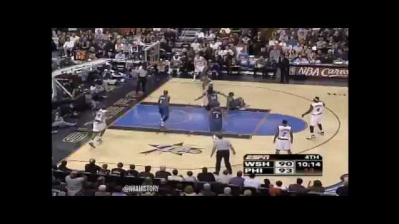 Allen Iverson Crossover on Antonio Daniels (2006) - NBA History