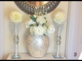 Glam Vase DIY &amp Kissing BallDOLLAR TREE