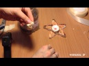Подсвечник в стиле шебби-шик / Из стеклянной банки, бечёвки, мешковины и атласных
