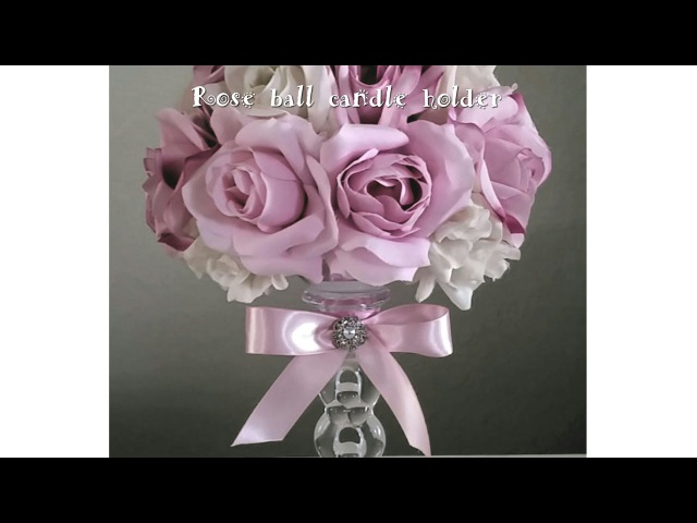 DIY | MULTI COLOR ROSE CRYSTAL CANDLE HOLDER | WEDDINGS, MOTHER'S DAY, SPECIAL EVENTS