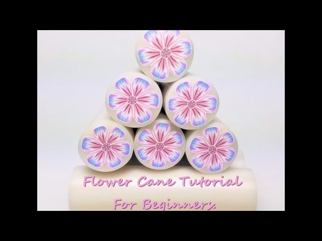 A beginners lesson/guide to polymer clay cane making. Flower cane tutorial in detail.