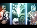 Rey Mysterio and Caristico Sin Cara Mistico