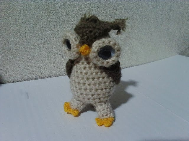 Сова - брелок. Owl - key ring. Amigurumi. Crochet.