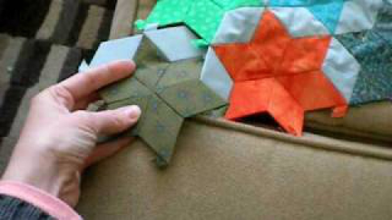 English paper piecing with quilt patis