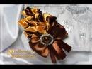 🌷БРОШЬ КАЛЛЫ | Канзаши мастер класс | Цветы из лент | Flowers Kanzashi