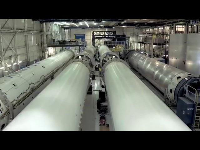 Flying through the Falcon factory
