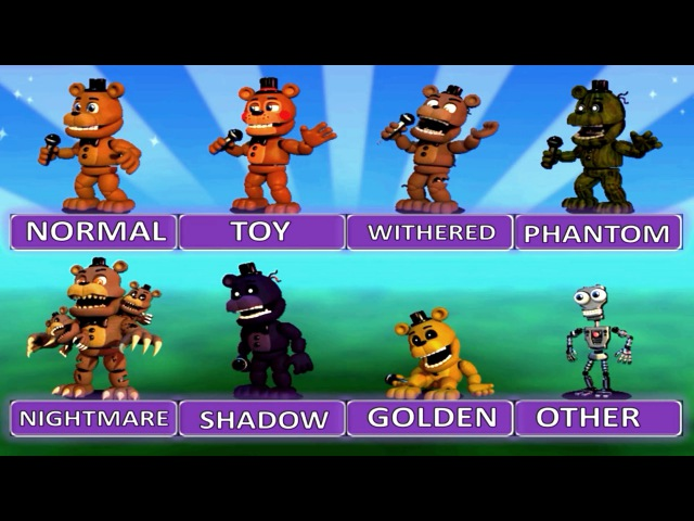 Five Nights at Freddy's World EXTRA MENU All Characters