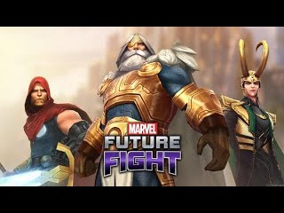 Marvel Future Fight Odin vs Black Dwarf (10 Seconds)