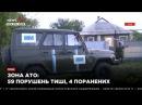 Зона АТО 59 нарушений режима тишины, 4 раненных 23.05.17