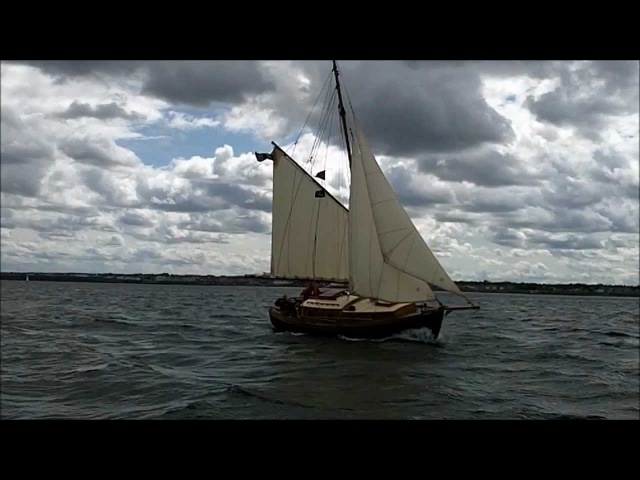 Sailing Classic Gaff Rigged Cutter Emma Kate Back into Blyth