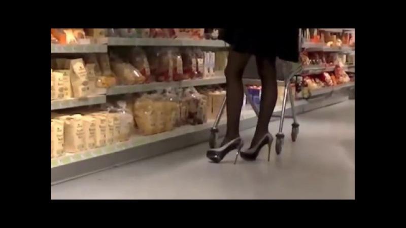 ShadowArkDdorf Public Stiletto High Heels Hidden Nylons Skirt FSH