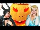 Заколдованная Тыква на Хеллоуин Малефисента Заколдовала Эльзу FROZEN - Олаф Снеговик и Человек Паук