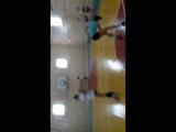 тренировка нападающий удар.