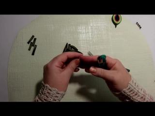 Как сделать кулон своими руками из косой бейки, кулон Павлин , МК